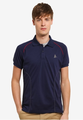 Fidelio navy Sleek Lining Sailing Polo Shirt FI826AA0RSYGMY_1