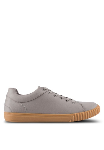 ZALORA grey Trainers in Gum Sole 3BAE3SHBAC5C7EGS_1