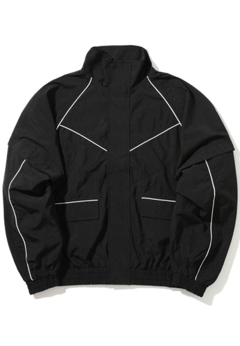 Fivecm black Contrast piped track jacket BC101AA7153498GS_1
