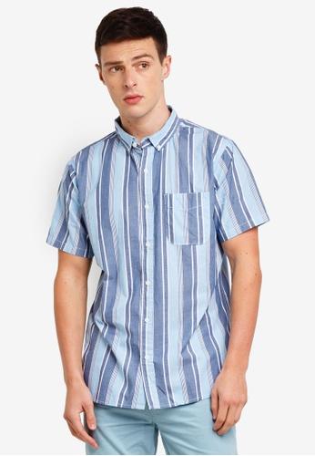 Cotton On 藍色 Vintage Prep Short Sleeve Shirt EC4BDAA78F9185GS_1