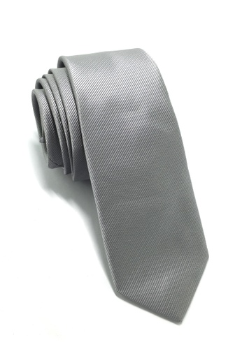 Splice Cufflinks Palpable Series  Silver Polyester Fabric Tie SP744AC45QNYSG_1