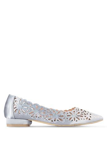 Sunnydaysweety 灰色 2018 新款閃石花卉平底鞋 A0229GY 9CEACSH50FB178GS_1