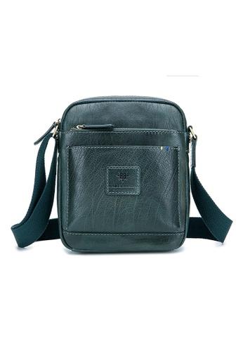 ENZODESIGN green ENZODESIGN Buffalo Leather Mini Cross Body Shoulder Bag AB055ACB7E59ADGS_1
