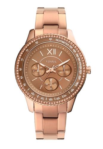 Fossil gold Stella Sport Watch ES5109 D0AF3ACD63A2A6GS_1
