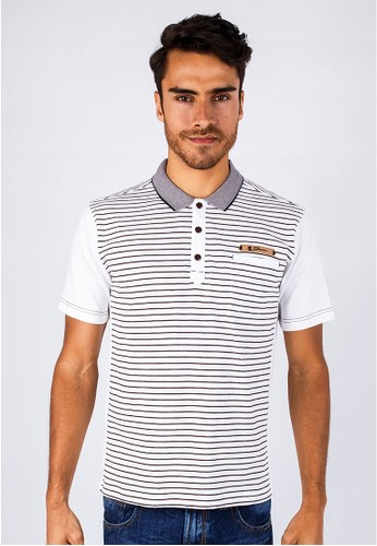 Johnwin - Slim Fit - Polo Shirt - White - Salur.