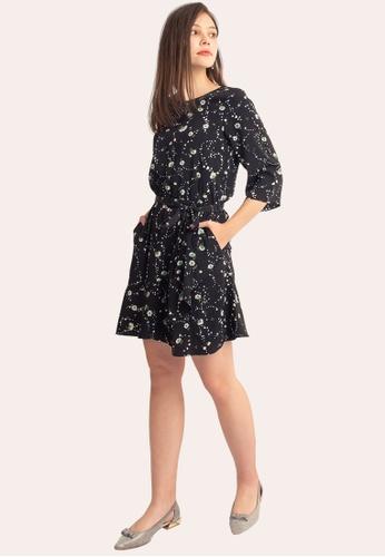 L'zzie 黑色 LZZIE LILYBELLE连衣裙-黑色 015DAAAA12C393GS_1