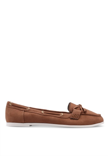 Dorothy Perkins brown Widefit Tan Lara Loafers 31AACSH98DAD97GS_1