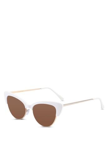 21252785a3 Mango white Cat-Eye Sunglasses 43AC6GL6436F92GS 1