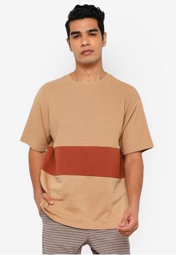 RAGEBLUE brown Knit T-shirt 352FDAA8A26753GS_1