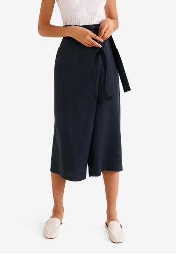Mango blue Side Tie Trousers B1732AA00C94B2GS_1