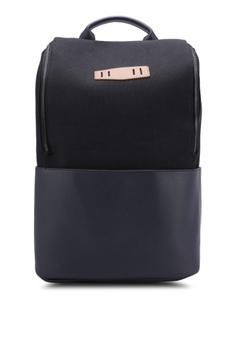 ZALORA black and navy Essential Canvas Backpack 5A3C4AC4C8D8EFGS_1