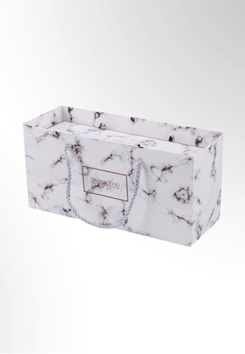 Ayra Home & Living white White Marble Party Gift Paper Bag 69F25HLD31F136GS_1