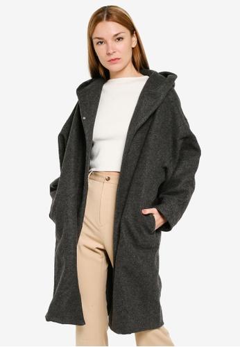 niko and ... grey Hooded Long Coat 71616AA760DA01GS_1