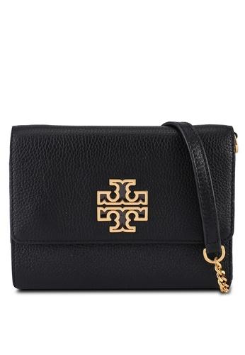TORY BURCH black Britten Chain Wallet Bag (NT) 5DFEBACD2BF9F7GS_1