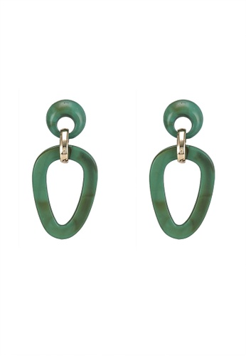 niko and ... green Tiered Statement Earrings E2708AC0D0F5ADGS_1
