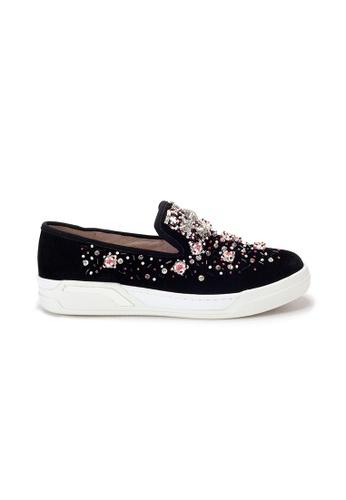 Shu Talk black Amaztep Suede Leather Sneakers 8C1CFSH3E18BD7GS_1