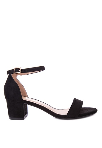 Sofab! black Jonas Ankle Strap Block Heel Sandals SO013SH49FNMPH_1