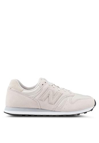 New Balance beige 373 Lifestyle Shoes 07655SHF596803GS_1