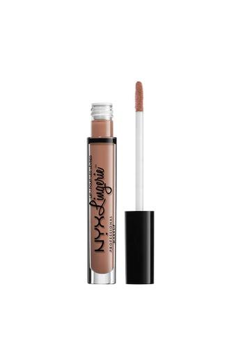 NYX Professional Makeup brown NYX Professional Makeup Lip Lingerie Liquid Lipstick - SATIN RIBBON 19BEEBE31C252AGS_1