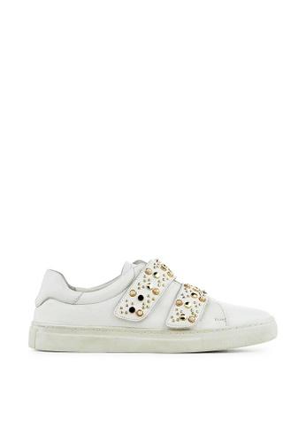 Minelli white F51 103 Studded Leather Strap Sneakers - Ulla MI352SH0FJTCSG_1