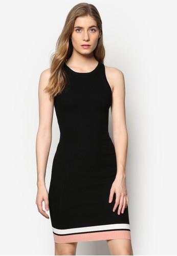 Hayden 條紋拼接無袖洋裝, 服esprit hong kong飾, 洋裝