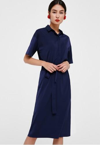 Love, Bonito navy Lindi Tie Front Midi Dress 3DC4AAAA4FA40BGS_1