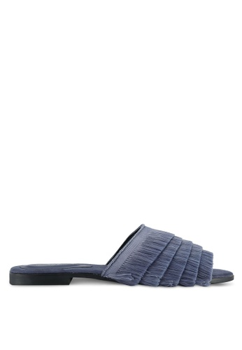 Something Borrowed blue and navy Fringed Sliders 759C8SHF50A915GS_1