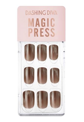 Dashing Diva brown Dashing Diva 1 SEC. MAGIC PRESS Manicure Vintage Brown/ Press on Nails /Nail Tips 93314BE1C2AD9BGS_1