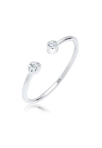 Elli Germany silver Elli Germany Ring Solitaire Statement Swarovski Crystals 925 Sterling Silver FCEABACDF2938CGS_1