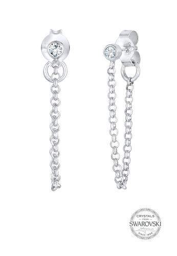 Elli Germany silver Trend Geo Swarovski® Crystals 925 Silver Earrings EL474AC0S1ZHMY_1
