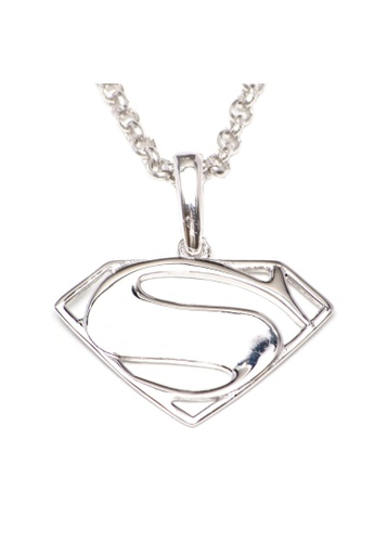 Shop Silverworks Superman Symbol Pendant With Rolo Chain Necklace