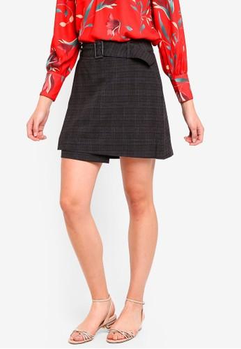ESPRIT grey Woven Mini Skirt 9847DAA94F7398GS_1