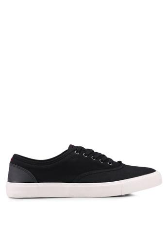 Burton Menswear London black Black Mesh Plimsolls FFAB2SH517B0FBGS_1