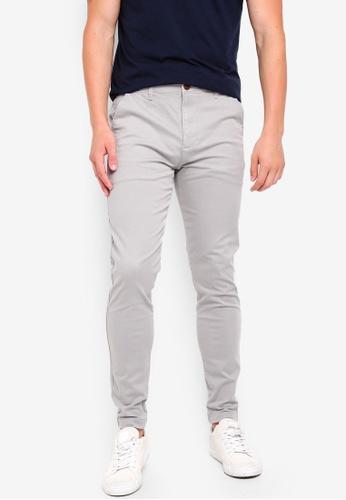 Hollister 灰色 Super Skinny Chinos 97E34AA1D959D9GS_1
