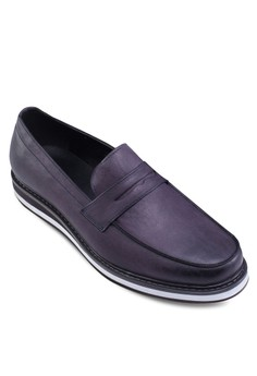 Faux Leather Penny Loafers