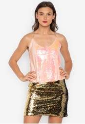 Chase Fashion pink Mayce Sequin Cami Club Top 21365AA4ABF589GS_1