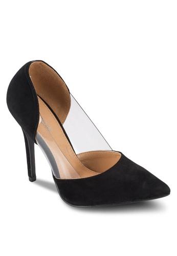 Perspex 透明拼接esprit台灣門市高跟鞋, 女鞋, 鞋