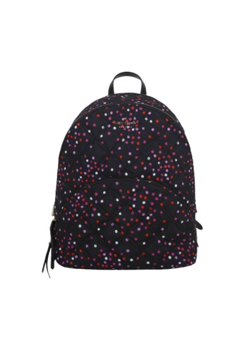 KATE SPADE black Kate Spade Large Karissa Quilted WKR00084 Nylon Backpack In Festive Multi 4F204ACAB10308GS_1