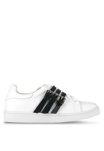 Something Borrowed white Buckle Lace Up Trainers A1365SH90435FFGS_1