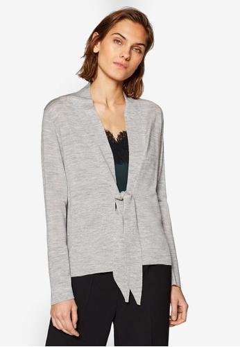 ESPRIT grey Cardigan with Drawstring Ties E8DD6AAC70D699GS_1