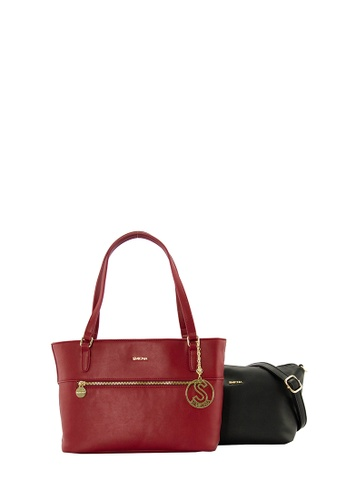 SEMBONIA red SEMBONIA Synthetic Leather Tote Bag (Red) SE598AC0SBC9MY_1
