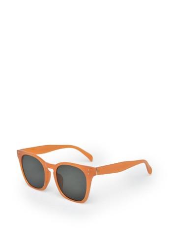 9 to 12 orange Oversized Wayfarer Sunglasses [86305] 4D610GL3CE11ECGS_1