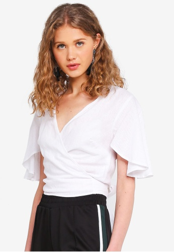 Supre white Coco Tie Front Top 7B170AA0744DDBGS_1