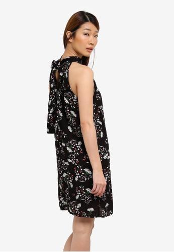 Something Borrowed black Back Neck Tie Shift Dress E7D86AAABB94EEGS_1