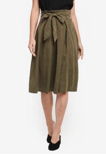 Zalora Green Paper Bag Midi Skirt Dcd8baa7d0d280gs 1