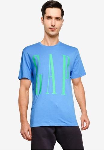 GAP blue Corp Logo T-Shirt BC122AA12199B5GS_1