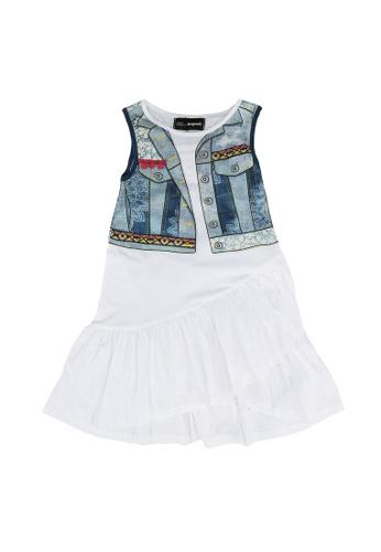 Desigual white Graphic Dress 57CC5KA14636F3GS_1