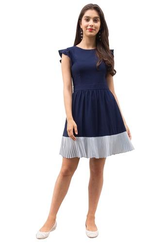 L'zzie blue LZZIE ESTELLA DRESS - BLUE E8872AA1AF8D93GS_1