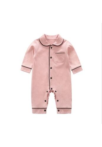 RAISING LITTLE pink Waltie Romper- Pink BF904KACC34ACBGS_1