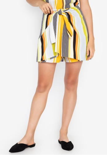 Josie yellow Stripe Skort BB408AA197090BGS_1